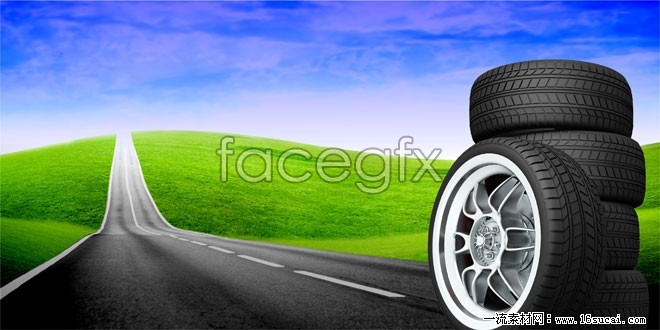 Innovative tire road HD picture
