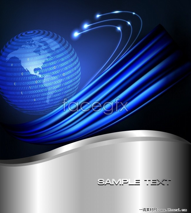 Blue lines HD technology background pictures