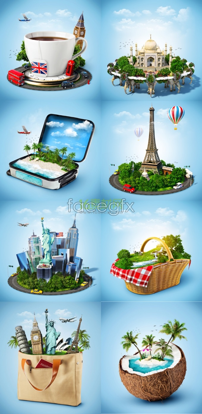 Creative travel element HD pictures