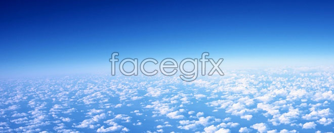 High-altitude overhead imagery of clouds high definition pictures