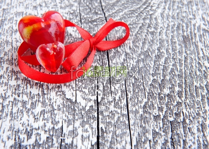 Red heart-shaped Red Ribbon high definition pictures