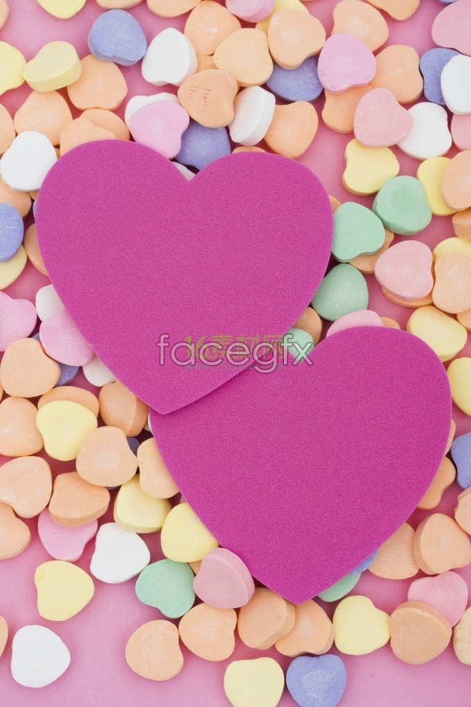Red heart-shaped perfect love HD picture