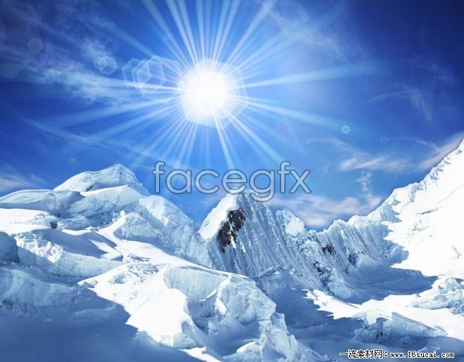 Snow landscape high resolution images