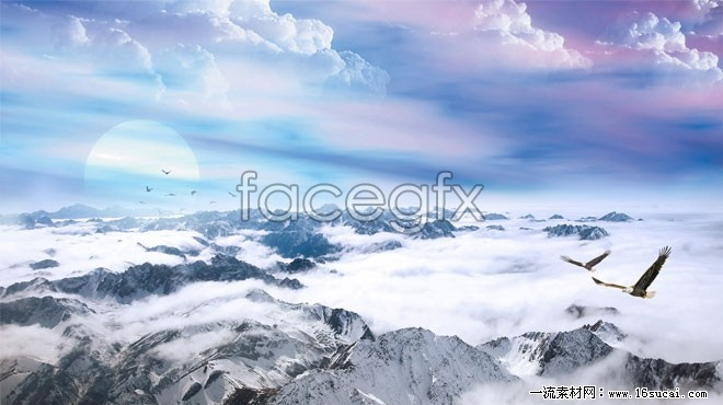 Snow mountain scenery of Genting high definition pictures