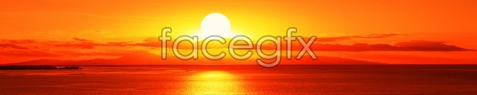 Sunset over Golden high definition pictures