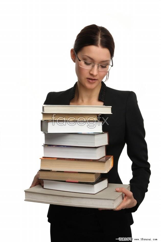 Female teachers holding the book HD Photo
