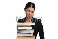 Female teachers holding the book HD Photo