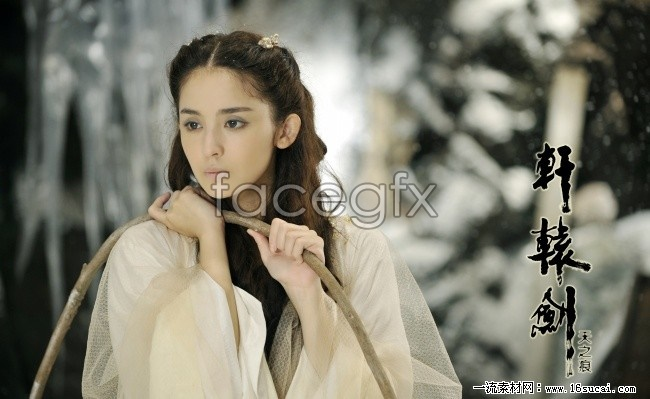 Gu Lina rolled snow pictures