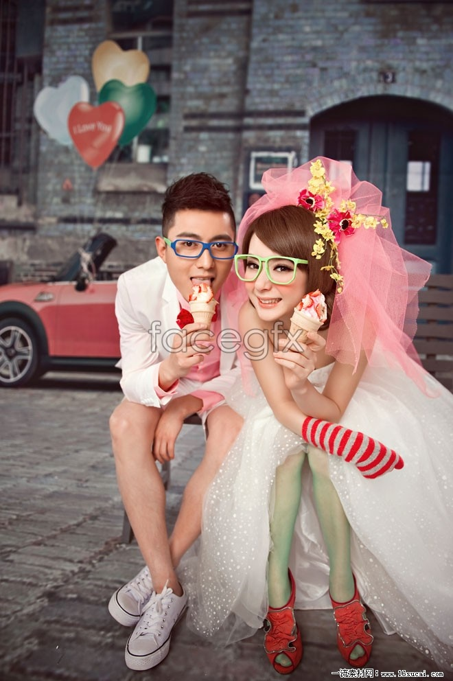 Sweet and non-mainstream wedding HD pictures