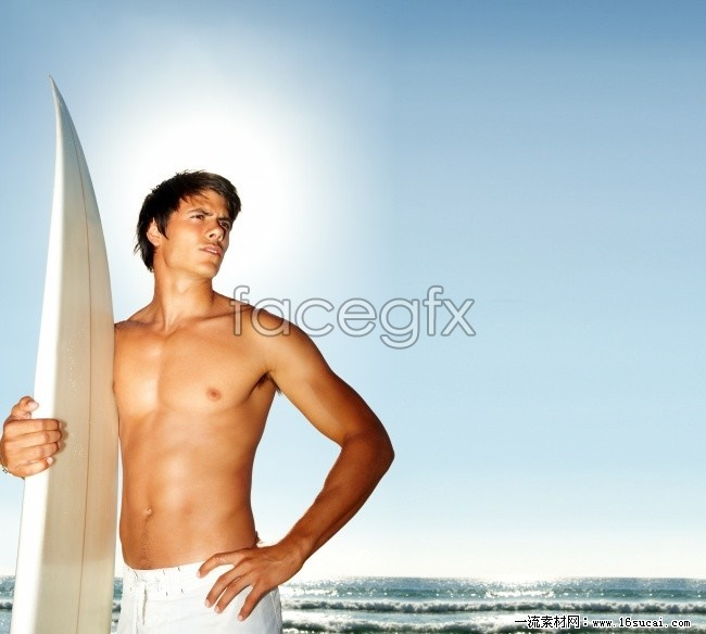 Surf muscle dude, high definition pictures