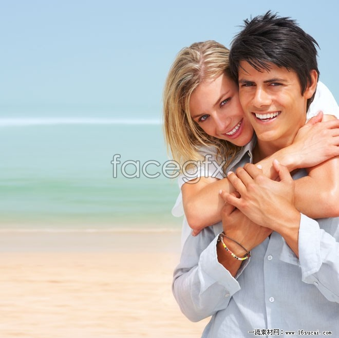 Romantic beach couple HD picture