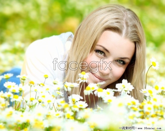 Flowers beautiful girls HD pictures