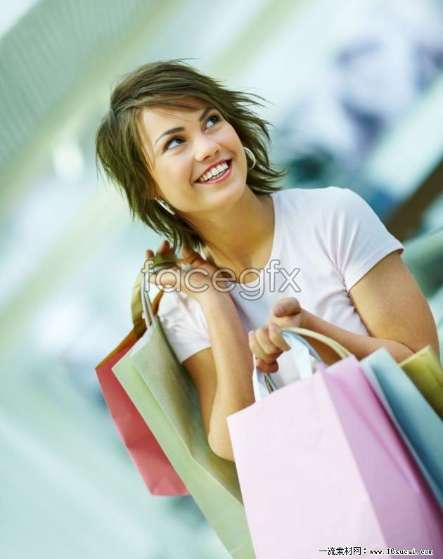 Happy shopping girls HD pictures