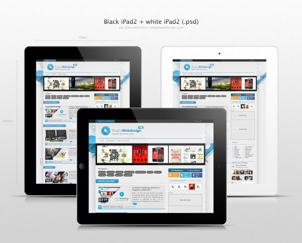 IPad 2 Tablet PSD
