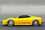 Yellow convertible PSD