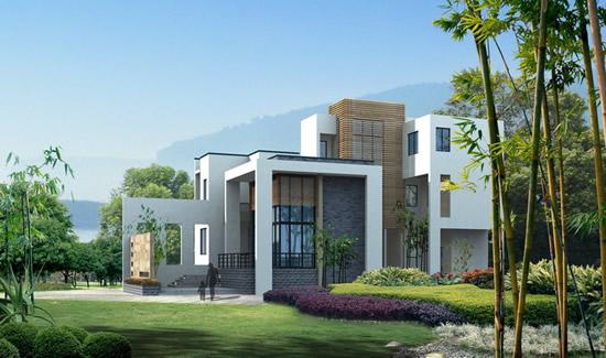 landscape of villas psd for free download