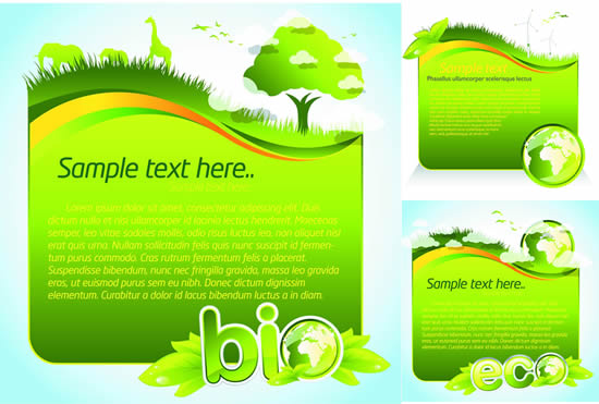 Ecological environment protection posters