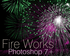 Fire works Brushes for PS 7+