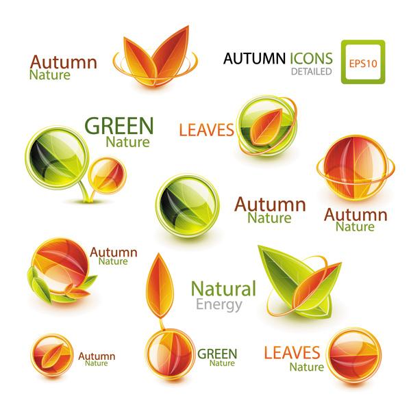 Autumn nature theme icon