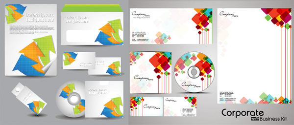 Colorful CD Pack vector