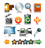 Commonly used vector icons