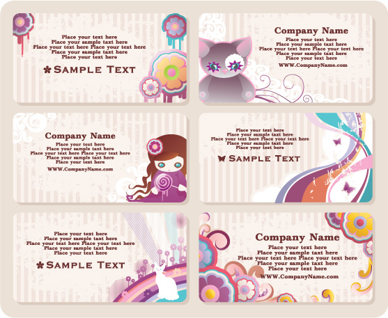 Cute business card templates