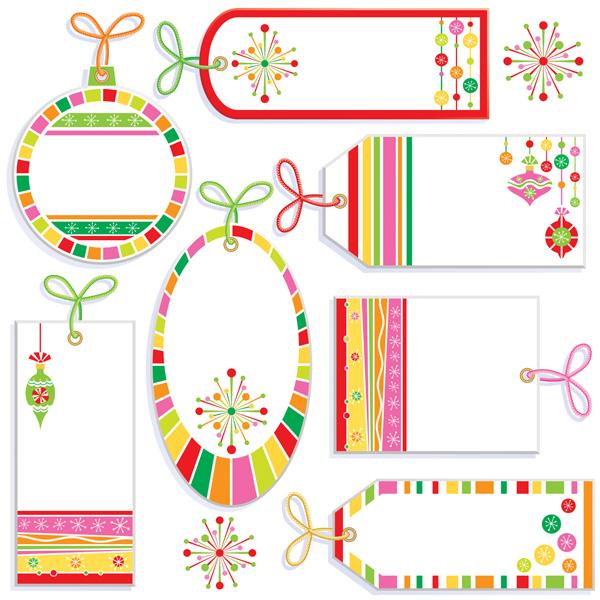 Cute labels vector