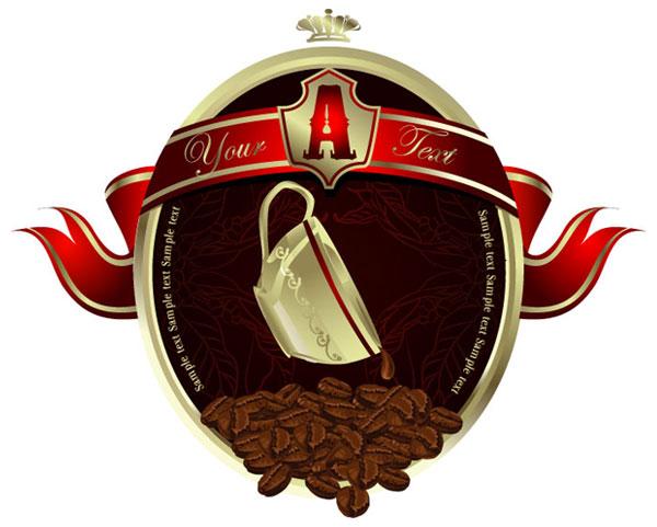 European-style coffee poster