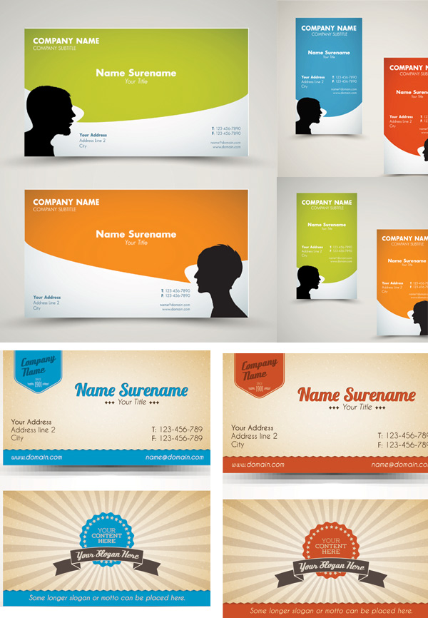 Four color business cards | Free download