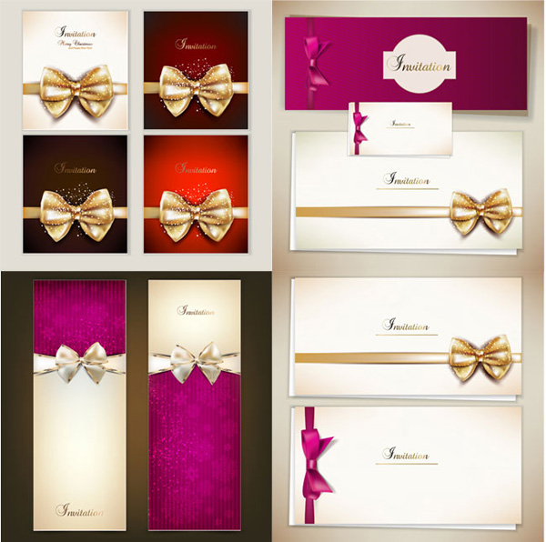 Golden Ribbon cards business cards