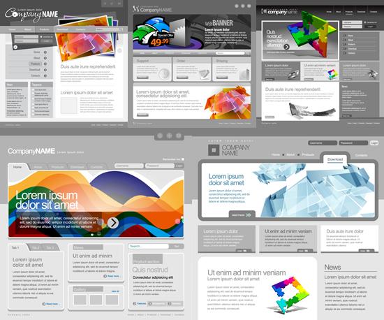 Grey website template