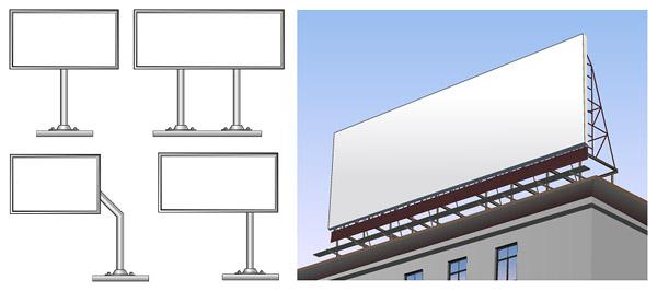Large billboards vector