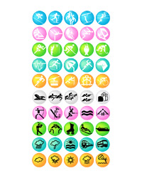 Olympic three vector icons