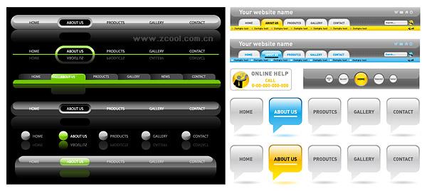 Page navigation menu