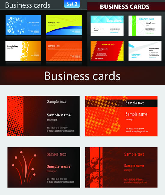 Personality business card vector