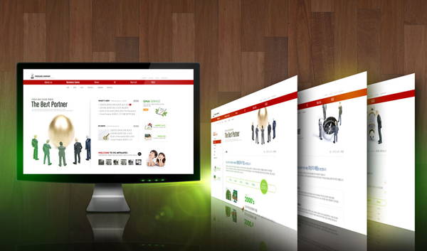 Red style Web design