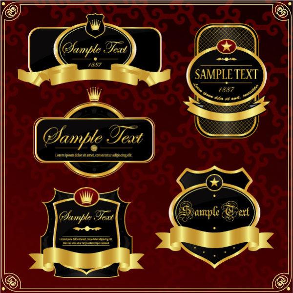 Royal shield labels