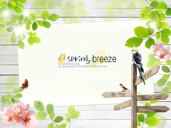 Spring theme design PSD