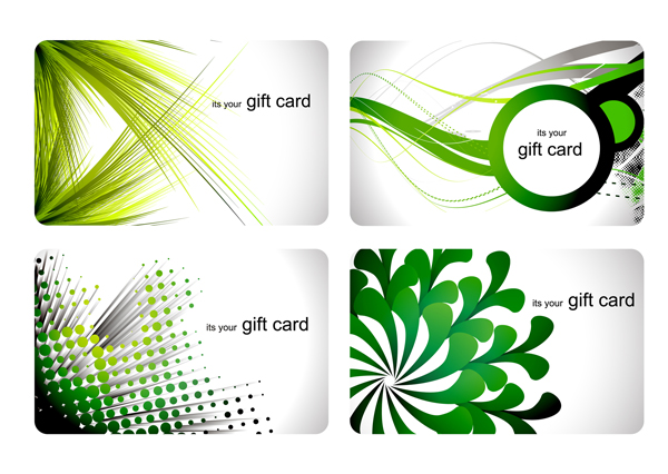 Trends business cards vectors