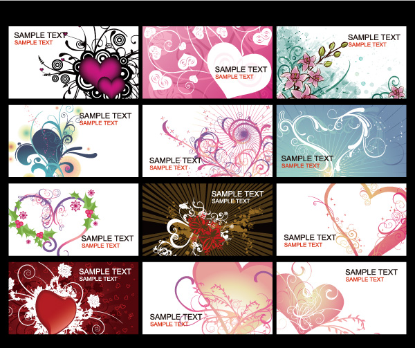 Valentine's Day heart-shaped cards