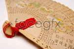 Wooden folding fan PSD