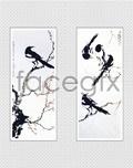 Xu Beihong's painting-magpie PSD