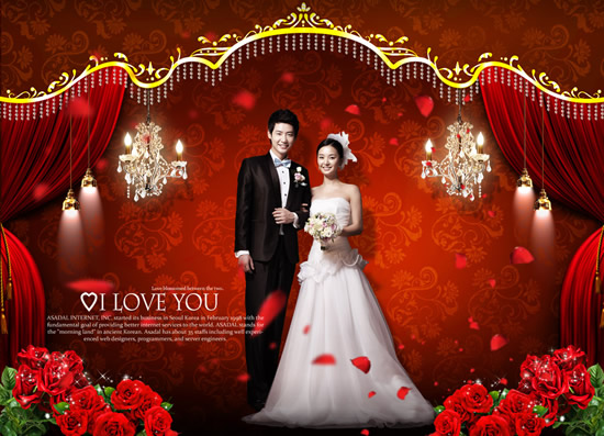Wedding Palace of love photography PSD | Free download