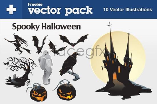 Halloween horror elements Vector