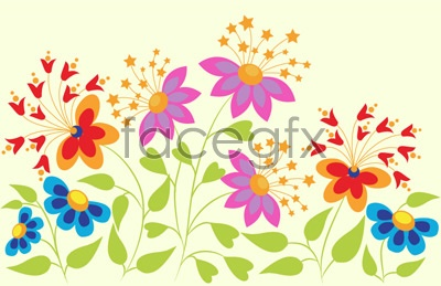 Butterfly-shaped flowers Vector