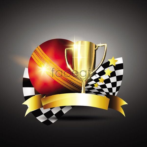Cartoon Gold Cup vectors 03