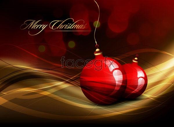 Crystal Christmas hanging ball 2 Vector