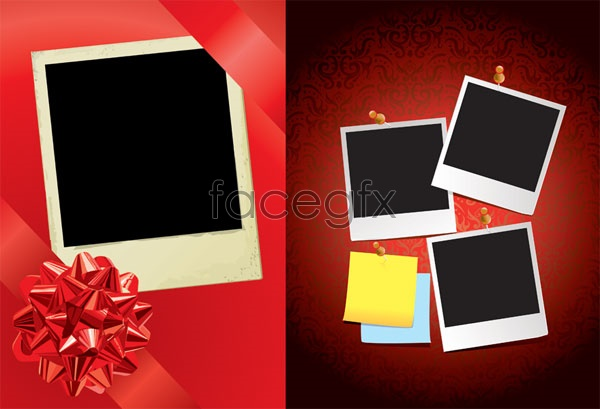 Red Ribbon with a photo Vector