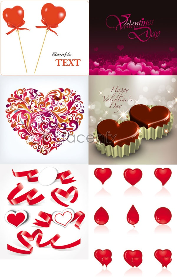 Romantic heart-shaped vector