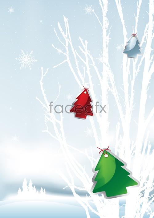 Vector Christmas snow scenes